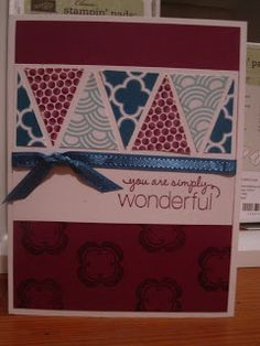 Luv My UPS Man: Stampin' Up! Card featuring Friendly Phrases and Madison Avenue stamp sets with Sycamore Street dsp