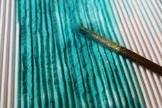 Painted c-flute pape