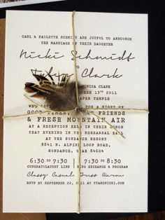 If I could have a do-over on my wedding invitations, these would be perfectly it.