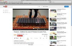 Panasonic Video erläutert die bestmögliche Modul-Installation