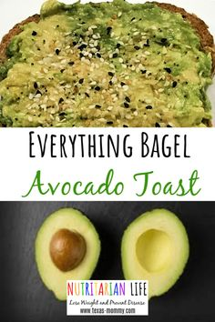 One of the best breakfast recipes eating whole food plant based, is this avocado toast with Everything Bagel Seasoning. It is a simple, healthy, vegan recipe that I've even had for lunch! Arugula is d Best Breakfast Recipes, Lunch Recipes, Whole Food Recipes, Vegetarian Recipes, Nutritarian Diet, Everything Bagel, Eat To Live, Clean Eating Snacks, Eating Healthy