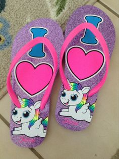 So cute unicorn flippies!i got them from justice but if u wear them they are SO comfortable!!!;)