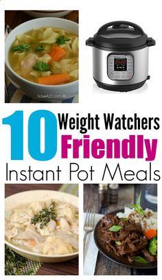 10 Weight Watchers Friendly Instant Pot Recipes