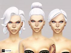 No more Grey Hair -MF SIMS Intense White (Part 2) at Missfortune Sims via Sims 4 Updates