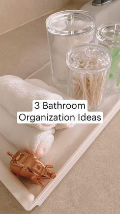 Bathroom Sink Organization, Home Organization Hacks, Organized Bathroom, Diy Wall Decor, Diy Bedroom Decor, Diy Home Decor, Casa Top, House Cleaning Tips, Diy Home Crafts