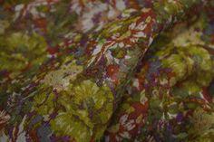 Garden Gambol - Georgette Silk - Tessuti Fabrics - Online Fabric Store - Cotton, Linen, Silk, Bridal & more