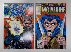 Wolverine Ghost Rider And Cable Flip # 92 # 93 Marvel Comics 1991