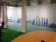 www.vinylimpression.co.uk Window graphics and glass manifestations for office fit outs, refurbishments and branding projects.