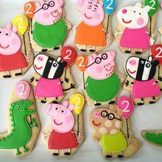 .Oh Sugar Events Peppa Pig cookies