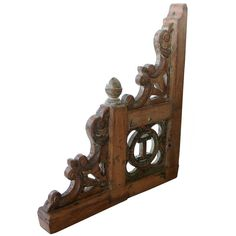 Anglo Indian Painted Teak Porch Bracket