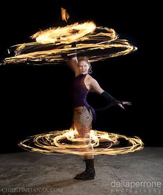 Double Fire Hooping with Christine Janak