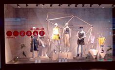 Spring/Summer 2017 season in visual merchandising is green – Design Retail Space Visual Merchandising Fashion, Retail Windows, Retail Space, Spring Summer, Seasons, Female, Green, Fashion Trends, Inspiration