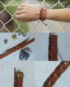 always rooney: Leather Friendship Bracelet Bracelet Making, Jewelry Making, Macrame Jewelry, Bracelet Tutorial, Bead Art, Diy Fashion, Jewelry Crafts, Friendship Bracelets, Etsy Shop