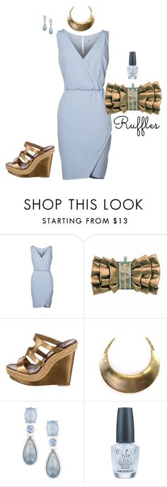 """Untitled #8125"" by erinlindsay83 ❤ liked on Polyvore featuring Christian Louboutin, Anne Klein, OPI and ruffles"
