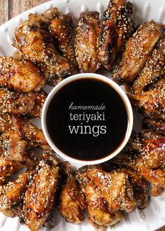 Homemade Teriyaki Wings - one of the best recipes you'll ever try! { lilluna.com } Lots of flavors make these a great appetizer for any get together!