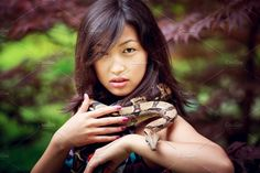 Woman with snake by konstantin.tronin on @creativemarket