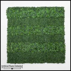 Artificial Living Wall with Embedded Custom Logo