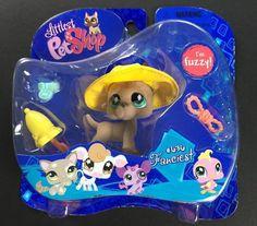 Littlest Pet Shop Fuzzy Tan Great Dane Dog #636 Fanciest New 3 #Hasbro