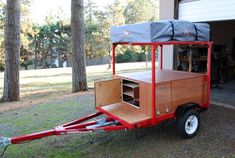 Ready for Adventure! Here is Brock's DIY Explorer Box Camping Trailer after … Ready for Adventure! Here is Brock's DIY Explorer Box Camping Trailer after we installed a Tepui roof tent top on it. Teardrop Trailer Plans, Box Trailer, Trailer Build, Trailer Diy, Trailer Storage, Atv Trailers, Adventure Trailers, Custom Trailers, Utility Trailer Camper