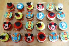 Mickey Mouse Club House Cup Cake Toppers by TutuCuteCakes on Etsy, $30.00
