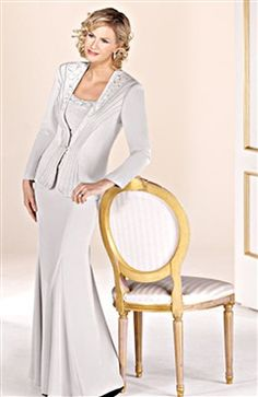 Simple Style A-line Mother's Dress With Long Sleeves Jacket - Mother Of The Bride Dresses - OuterInner.com