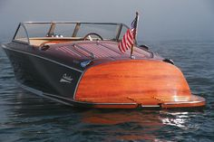 Chris Craft wood boats.  I grew up skiing on a CC.  It's like a Harley on water.  Unbelievable. We always sported the American flag and got salutes from other boaters. Engine thunder. SO cool.