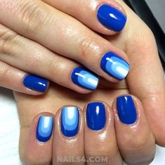Best Nail Designs and Ideas To Copy This Fall / Cool And Orderly Acrylic Manicure Style Art Deco Nails, Fall Nail Designs, Blue Abstract, Fun Nails, Nailart, Clever, Manicure, Nail Polish, Ideas