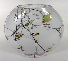 Mary-Melinda Wellsandt sand-etched glass vase