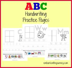 FREE ABC Handwriting Practice Pages - Blessed Beyond A Doubt