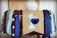 Hey, I found this really awesome Etsy listing at https://www.etsy.com/listing/259779773/cookie-monster-birthday-high-chair