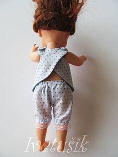 Ivetusik / Krátke riasené nohavice na bábiku