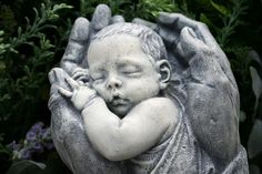 RESERVED FOR RB82  Precious Baby Sculpture In God's