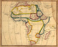 Map of Africa, 1812, by Arrowsmith and Lewis, printed in Boston by Thomas & Andrews.