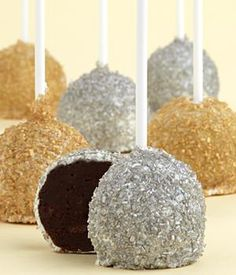 Handmade Gold and Silver Cake Pops
