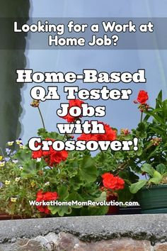 Crossover is hiring home-based QA testers from around the world to help them find mistakes in products. These are 40 hour-per-week work from home positions. $10 per hour. If you're seeking a flexible home-based job, this might be perfect for you! Awesome way to make money from home!
