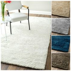 nuLOOM Handmade Solid Soft Plush Shag Rug (9' x 12') | Overstock.com Shopping - The Best Deals on 7x9 - 10x14 Rugs