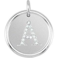 Posh Mommy® Initial Roxy Pendant with Diamonds. Available at PAVÉ Jewelry & Design Studio. www.pavemv.com