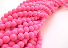 Cristal gloss rosa pastel 8mm, collar con 105 cuentas $18, precio especial a mayoristas.