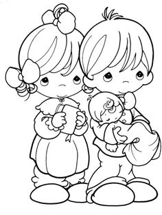 Precious Moments Are Always Happy Coloring Pages