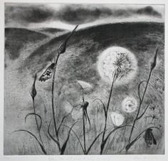 """""""When the Wind Comes to Blow Us Away"""" by Flora McLachlan (etching)"""