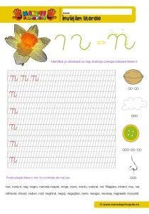 N Archives - Manute Pricepute Cursive Letters, Learning The Alphabet, Worksheets For Kids, Stories For Kids, Kindergarten, Activities, Education, Children, Homeschooling