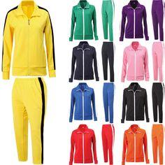 Mens Womens Running Jogging Track Suit Warm Up Jackets Pants Gym Training Wear #hellobincom #TracksuitsSweats