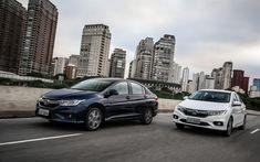 Download wallpapers Honda City, 4k, road, 2018 cars, sedans, Honda