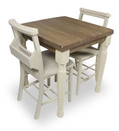 Our Church dining table and chair set 4 comprises of a farmhouse style table finished in Weathered Oak with Cream legs and two chairs Dining Set, Dining Chairs, Dining Table, Farmhouse Style Table, Weathered Oak, Table And Chair Sets, Table Settings, Interiors, Rustic
