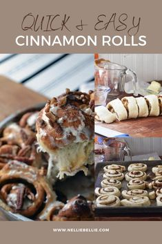 3 ingredients is all you need to make these quick and easy cinnamon rolls. #3 Ingredient #Breakfast #Cinnamon Rolls #Quick #Easy
