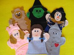 #Wizard of #OZ felt hand puppet. Hey, I found this really awesome listing at http://lisapuppetmaker.com