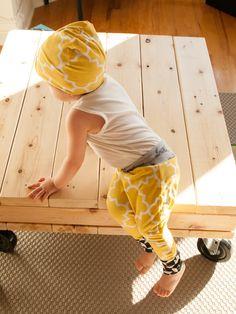HAREM PANTS RÉVERSIBLE/ Sarouel-pantalon évolutif à motifs jaunes et revers motos gris de la boutique AdeleMonAmour sur Etsy