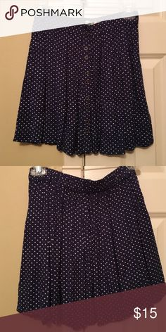 Urban Outfitters circle skirt Navy blue circle skirt with white polka dots. Elastic waistband in back Kimchi Blue Skirts Circle & Skater