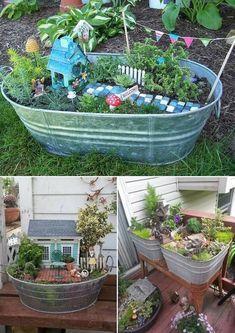 Stunning Fairy Garden Miniatures Project Ideas 48
