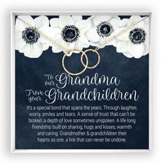Grandmother & Grandchildren Necklace, Grandma Gift, Gift from Grandkids Solid Gold Jewelry, Gold Filled Jewelry, Hammered Silver, Sterling Silver, In Memory Of Dad, Daughter Of God, Daughter Quotes, Girlfriend Quotes, Son Quotes